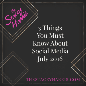 3 Things You Must Know About Social Media July 2016