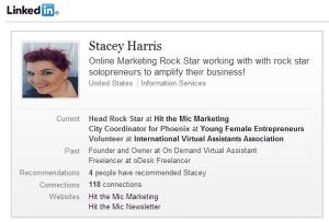 Stacey Harris LinkedIn