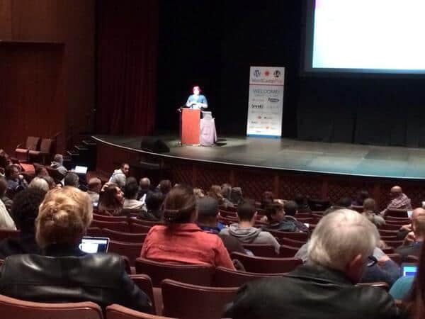 Stacey Harris speaking at 2014 WordCamp Phoenix