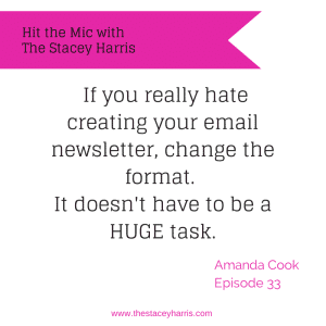 Effective Email Marketing with Amanda Cook https://thestaceyharris.com/episode33