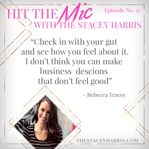 How to Price Your Programs and Services with Rebecca Tracey https://thestaceyharris.com/episode51