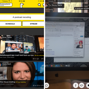 Home Screen and Video Screen in Meerkat - Learn how you can use it on #HittheMic